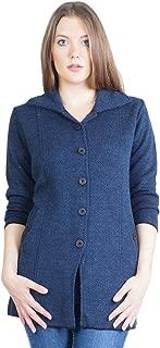 Montrex Acro Wool Winter Long Coat for Women, Girls (Blue)