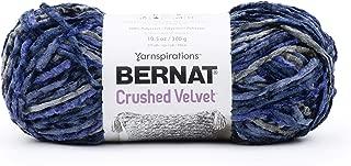 Bernat Crushed Velvet Yarn, Navy