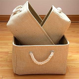 KKGASSAB Boîte de Rangement de Tissu 3 Pliable Durable Panier de Stockage en Toile avec poignées pour étagères Jouets de S...