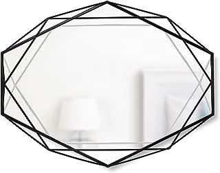 Umbra, Black Prisma Modern Geometric Shaped Oval Mirror Wall Decor for Bedroom, Bathroom, living, Dining Room