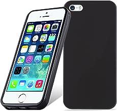 Cadorabo Hülle für Apple iPhone 5 / iPhone 5S / iPhone SE - Hülle in SCHWARZ – Handyhülle aus TPU Silikon im Ultra Slim 'AIR' Design - Silikonhülle Schutzhülle Soft Back Cover Case Bumper