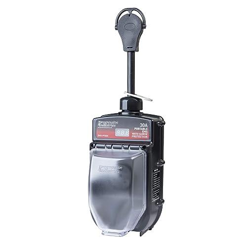 Portable RV Surge Protector Portable EMS-PT30X RV Surge Protector , Black
