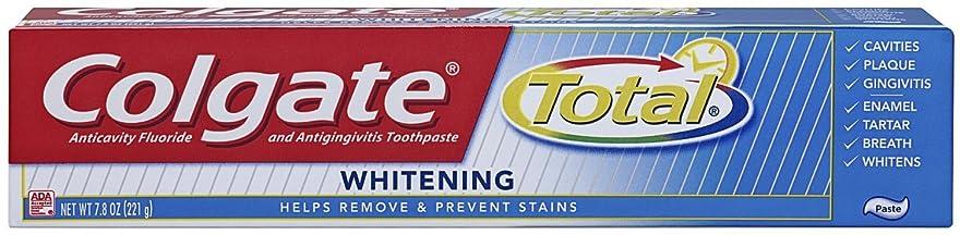 レンダリング春ラッチColgate 総フッ化物の歯磨き粉、7.80オズ(2パック)ホワイトニング 2パック