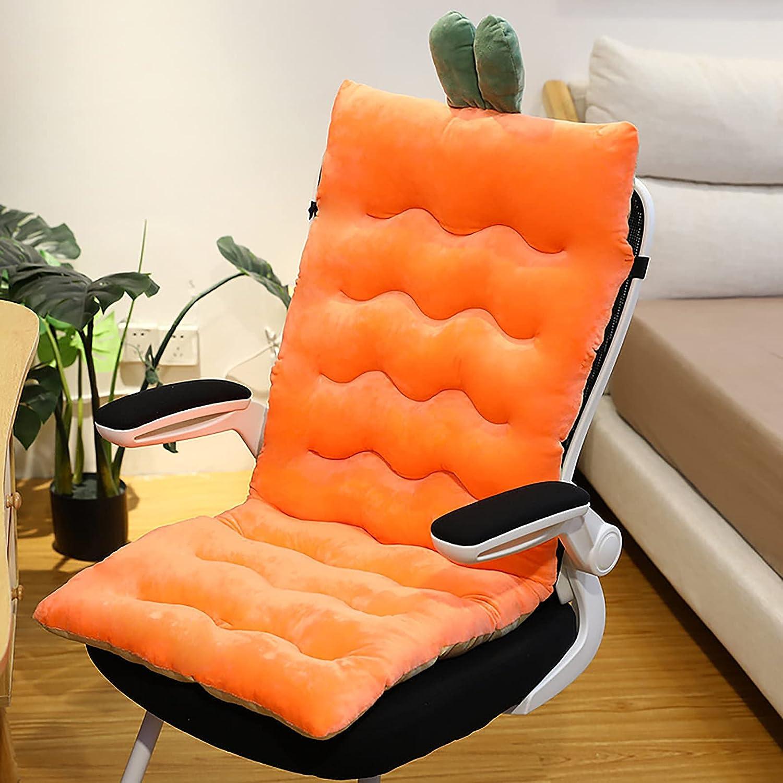CENATXG Comfy Chair Cushion with Ties Back Max New Orleans Mall 40% OFF High R Cartoon Plush