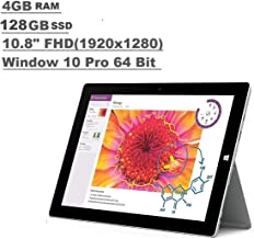 Microsoft Surface 3 Tablet (10.8-inch FHD (1920x1280), 4GB RAM, 128GB SSD, Intel Atom 1.6Ghz, Windows 10 Professional 64 Bit) (Renewed)