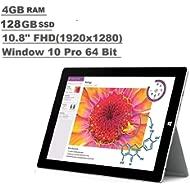 Microsoft Surface 3 Tablet (10.8-inch FHD (1920x1280), 4GB RAM, 128GB SSD, Intel Atom 1.6Ghz,...
