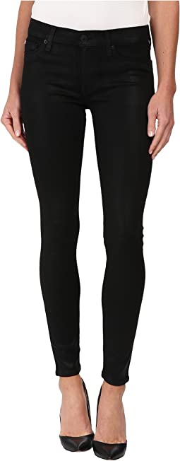 Krista Coated Super Skinny Jeans in Noir Coated