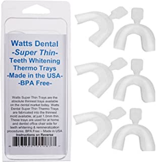Watts Dental Super Thin Teeth Whitening Trays Pack Of 6