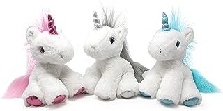 Puffins Unicorn Plush - Stuffed Animal in 3 Colors - 3-Pack