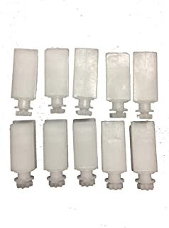Package of 10 Stem For Vertical Window Blind White (Covering Treatment Hardware)