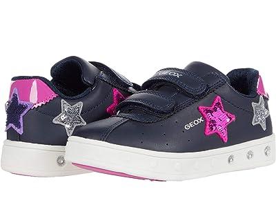 Geox Kids Skylin Girl 1 (Toddler) (Navy/Fuchsia) Girl