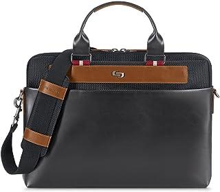 "Solo Southhampton 15.6"" Laptop Slim Brief Briefcase, Black, One Size"
