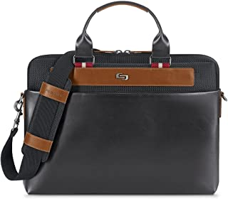 Solo Southhampton 15.6 Laptop Slim Brief Briefcase, Black, One Size