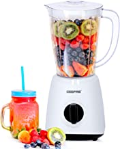 Geepas 400W 2 in 1 Multifunctional Blender | Stainless Steel Blades, 2 Speed Control with Pulse | 1.5L Jar, Interlock Prot...