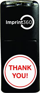 Supply360 AS-IMP2002 Round Stamp Thank You! in Circle, Red Ink, Durable, Light Weight Self-Inking Stamp, 5/8