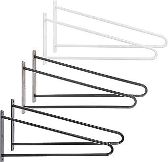 2x Wandkonsole Natural Goods Berlin Handtuchhalter Konsolentr/äger Schreibtisch Aufsatz-Waschschale stabil Regalhalter Waschbecken Unterbau Wandmontage Design Waschtischhalter 400mm, Schwarz