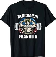 Mens Benchamin Franklin Patriotic Gainz Workout Gym T-Shirt