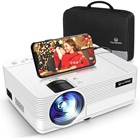 VANKYO Leisure 470 HD プロジェクター 6000高輝度 スマホに直接接続可 小型 プロジェクター ホームシアター 1920×1080最大解像度 TV Stick/HDMI/X-Box/Laptop/iPhone/ゲーム機に接続可