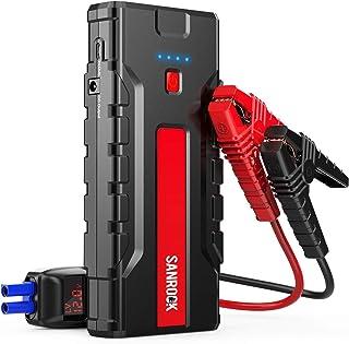 استارت پرش اتومبیل ، شارژر باتری اتومبیل SANROCK (8.0L گاز / 6.5L دیزل) - 2000A Peak 16000mAh 12V بسته قدرت تقویت کننده فوق العاده ایمن ، پورت Type-C ، پورت USB دوبل سریع ، کابل های جامپر هوشمند