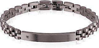 Breil bracciale da uomo in acciaio colorato con un piccolo diamante incastonato TJ2400