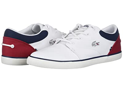 Lacoste Bayliss 220 1 (White/Navy/Red) Men