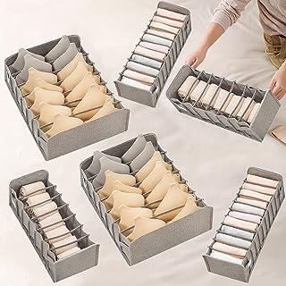 Xnuoyo 6 Pcs Organisateur de Tiroir Pliable, Boîte de Rangement pour Armoire, Boîtes de Rangement pour sous Vêtements Pour...