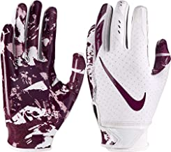 maroon youth football gloves