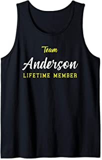 Team Anderson Lifetime Member Surname Birthday Wedding Name Tank Top