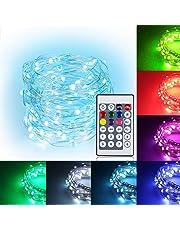 9色暖かい白LEDイルミネーションライト ジュエリーライト 100球