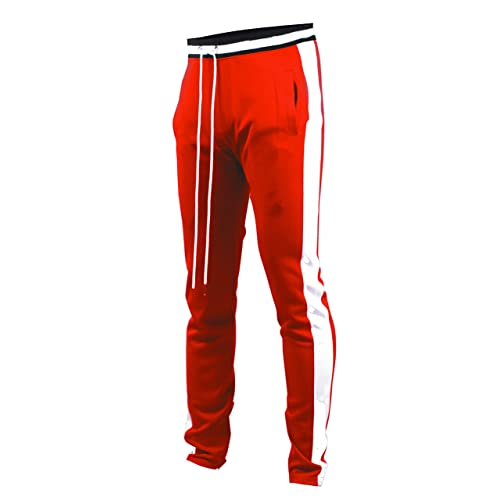 1627759a01e Screenshotbrand Mens Hip Hop Premium Slim Fit Track Pants - Athletic Jogger  Bottom with Side Taping