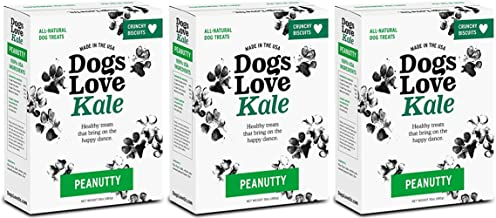 Dogs Love Us Kale Dog Treats, Crunchy Pet Snacks, Wheat-Free, Soy-Free and Gluten-Free