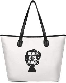 Womens Black History Month Black Girl Magic Afro Toddler Canvas Shoulder Bag Extra Large Shoulder Hand Bag for Shopping
