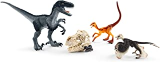 Schleich Three Raptors on the Hunt 5-piece Dinosaur Toy Set for Kids Ages 4-12