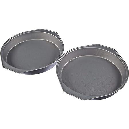 Amazon Basics Lot de 2 moules à gâteaux en acier carbone antiadhésif 22,8 cm