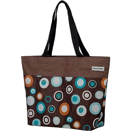anndora Shopper 17 Liter Damen Handtasche braun hellblau
