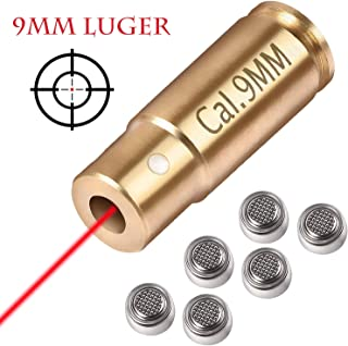 Gogoku Bore Sight for Cartridge Hunting Red Laser Boresighter with 2 Sets of Batteries (9mm)