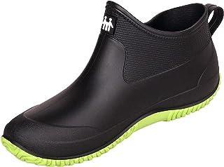 Bottes de Pluie pour Femme Bottines Tige Courtes Imperméables Homme Bottes en Caoutchouc Antidérapant Chelsea Boots Chauss...