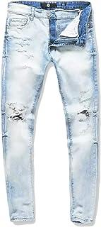 Jordan Craig ice Blue Sean fit Jeans with Shreds