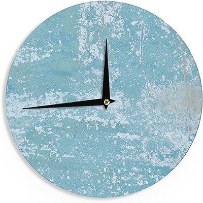 12-Inch Kess InHouse BarmalisiRTB Humpback Whales Blue Animals Wall Clock
