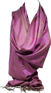 seitig Pashmina F/ühlen Wickelschal Stola Schal Hijab Doppelseitig Luxus Blumenmuster Zwei