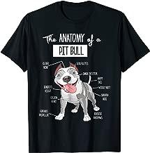 Anatomy Of A Pitbull T-shirt Dog Lover Tee
