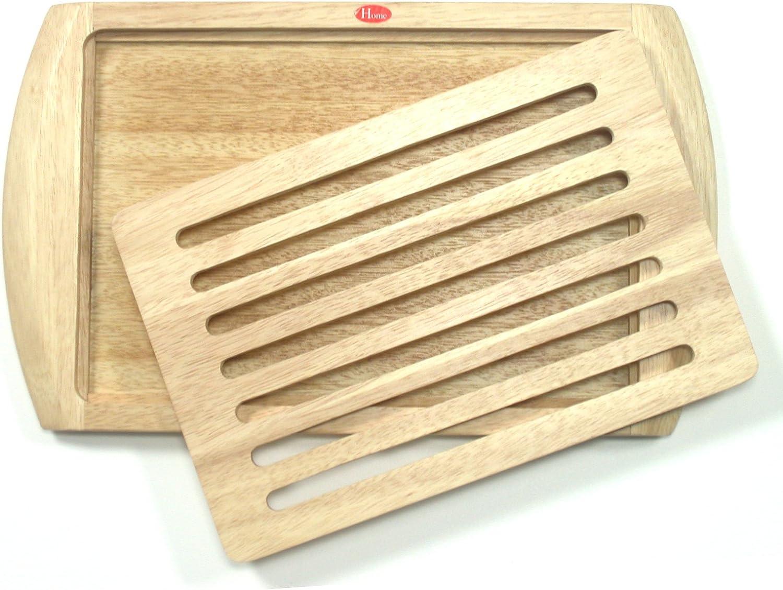 H&H Hackbrett für Brot, Holz, 23 x 38 cm B00F44N2DE
