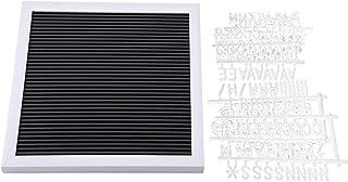 Tablero de Letras -25 cm * 25 cm Mensaje de Fieltro Tablero de Letras Signo Letras Intercambiables Números Decoración de l...