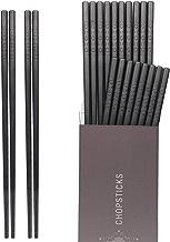 Hiware 10-Pairs Fiberglass Chopsticks - Reusable Chopsticks Dishwasher Safe, 9 1/2 Inches - Black