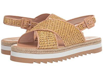 Schutz Aiyana (Natural/Honey Beige Rafia/Atan Soft) Women