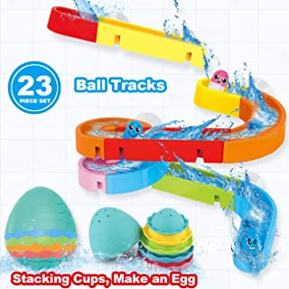Dwi Dowellin Bath Toys for Toddlers DIY Waterfall Tub Toys Slide Splash Water Ball Track Wall Bathtub Toys for Kids Boys Girls Age 3 4 5 6 7 Years Old