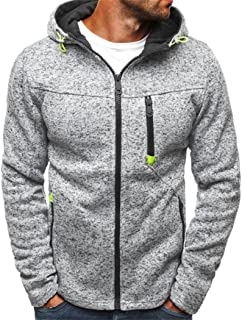e3425866b04c MIOIM Mens Basic Zip up Hoodie Warm Sports Casual Sweatshirt Outwear Coat