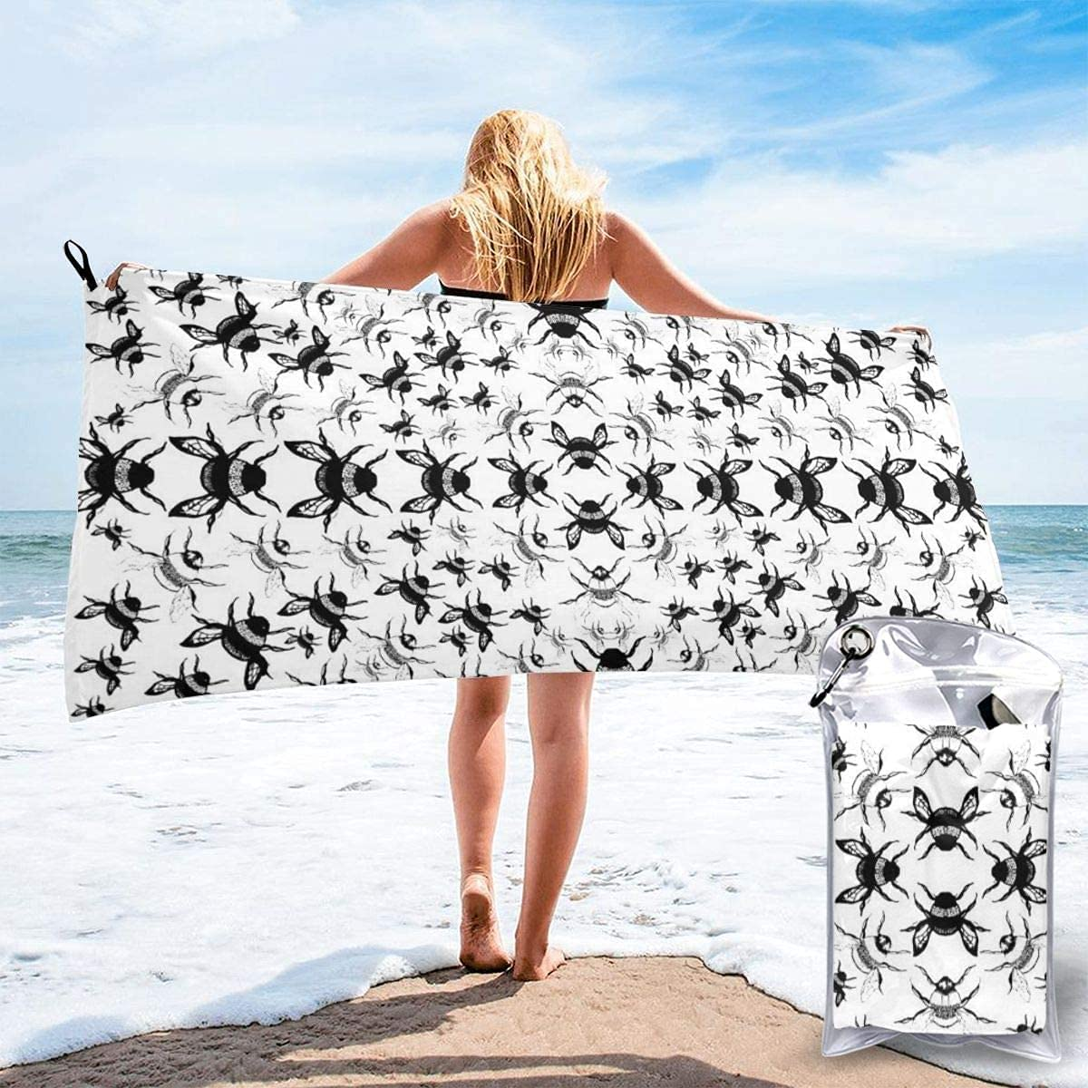 Fees free Fancy Music Notes Microfiber Beach Quick Super Drying Towel 2021 autumn and winter new Abs