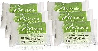 Miracle Noodle Shirataki Angel Hair Pasta, Gluten-Free, Zero Carb, Keto, Vegan, Soy Free, Paleo, Blood Sugar Friendly, 7oz (Pack of 6)