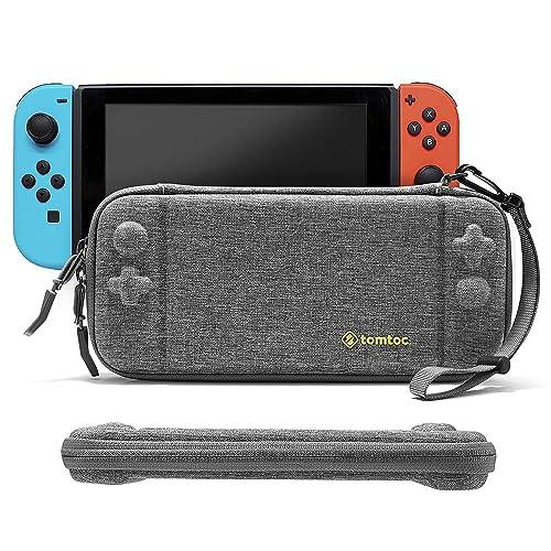 Funda delgada para Nintendo Switch, tomtoc Concha dura portátil estuche duradera para viaje con 8